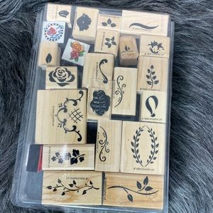 Stampin Up Two Step Hand Painted Petite 23 pieces